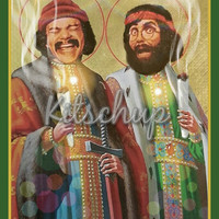 Saint cheech/chong prayer candle