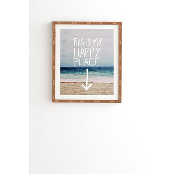 Leah Flores Happy Place X Beach Framed Wall Art