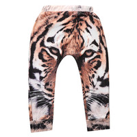 Baby Boy Girls Baggy 3D Tiger Harem Pants Toddler Kids SweatPants Joggers Elastic Bottom