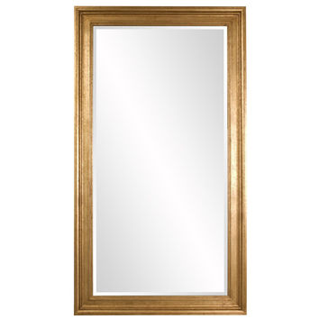 "Howard Elliott Chandler Oversized Gold Mirror 46"" x 82"" x 2"""