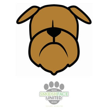 Brussels Griffon dog decal vinyl stickers - Griff in black & brown - Smooshface United Bruss breed bias - #brusselslove