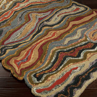 Gypsy Area Rug | Red Modern Rugs Hand Tufted | Style GYP202