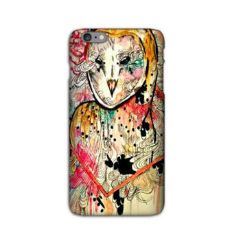 iPhone 6 plus Cover - iPhone 6 Plus case - 6 Plus Case - Owl iPhone case - Owl phone case - Animal art - Owl art - Cell phone case