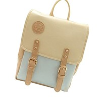 Top Fashion Korean Women Chic Faux Leather Backpack College School bag