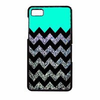 Glitter Print Chevron BlackBerry Z10 Case