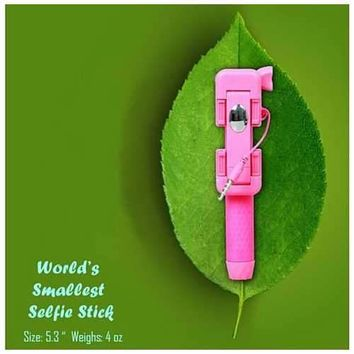 Candy Bar Selfie Stick World's Smallest And Guaranteed To Fit In Your Pocket
