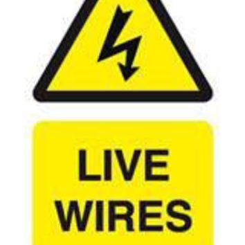 Tie tag, Live wires - Pack of 10