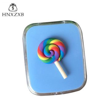 HNXZXB   Contact Lenses Storage Box Cartoon Candy Lollipop Contact lens Box Eyes Care Kit Holder Travel Washer Cleaner Contai