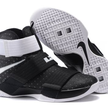 Nike LeBron Soldier 10 EP Black/White Basketball Shoes US7-12