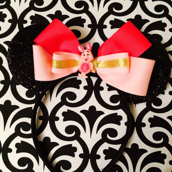 Minnie Mouse Winnie The Pooh Piglet Pink Inspired Headband Ears