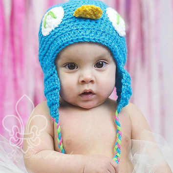 Crocheted Owl Beanie / Hat - Newborn, Baby, Toddler, Children