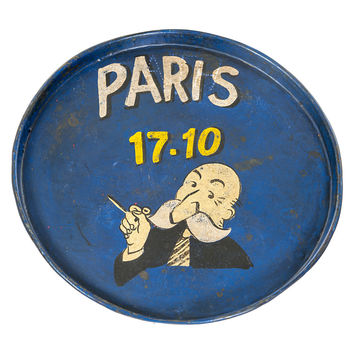 Painted Iron Round Tray, Paris