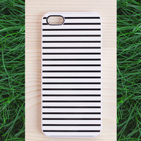 Striped iPhone 4/4S case, striped iPhone 5/5S case, Samsung Galaxy S4 & S3 case - classic black and white stripes