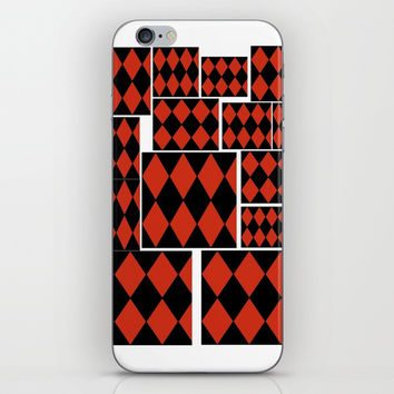 halloweenharlequin iPhone Skin by Kathead Tarot/David Rivera