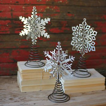 Snowflake Tree Toppers (Set of 3)