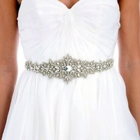 002 Lux Collection Beaded Applique Sash by UntamedPetals on Etsy