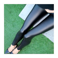 2016 Sales Spring Leggings faux leather Jeans Women Pants With Slim Jeggings Fitness Plus Size M-XL Black/Gray/Navy blue