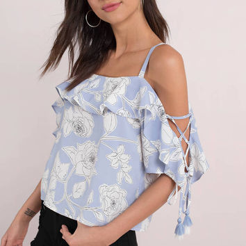 Moon River Reilly Ruffled Blouse