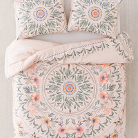 Iris Sketched Floral Comforter | Urban Outfitters