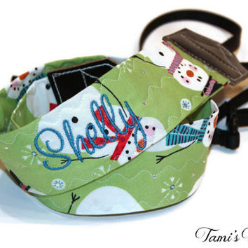 Personalized Christmas Camera Strap