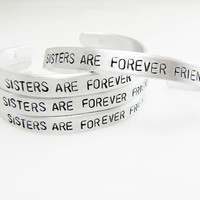 Sister Bracelet customized gift bracelet, sister gift, gift for friend, Mother 's Day, BFF, skinny metal cuff