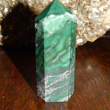 GENUINE AFRICAN JADE Tower - African Jade Gemstone Wand - Metaphysical  Healing Crystal d5a825910431
