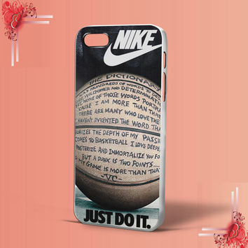 NIKE Just do it Quote Basketball for iPhone 4/4S,5,5c,5s,6 & samsung galaxy S3,S4,S5 Case Hard Plastic Cover
