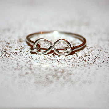 amare - sterling silver infinity ring by lilla stjarna - gifts under 25 - Valentine's Day - knuckle stack stacking stackable layering ring