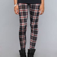Nevermind Plaid Leggings - Black - Bottoms - Clothes | GYPSY WARRIOR