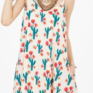 Desert Cactus Swing Dress