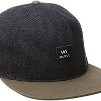 RVCA Men's Box Six Panel Hat, Brown/Blue, One Size