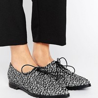 The March Lace Up Point Flat Shoes at asos.com