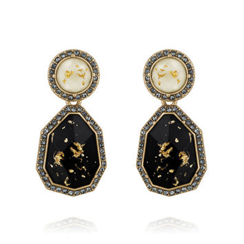 Gilded Ivory + Jet Convertible Earrings | Chloe + Isabel