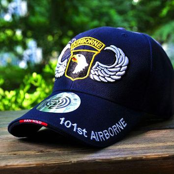 ADJUSTABLE US AIR FORCE 101 AIRBORNE EMBROIDERED HAT