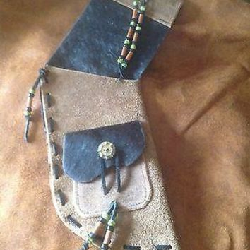 Distressed Leather Archery Quiver Custom Made Top Quality Celtic Native SCA LARP