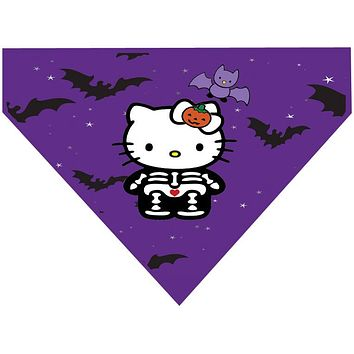 Halloween Over the Collar Dog Bandana - Hello Kitty Bat