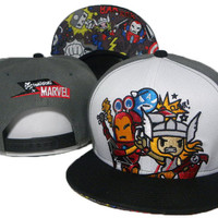 TokiDoki Marvel The Avengers Snap-back Cap for Adults