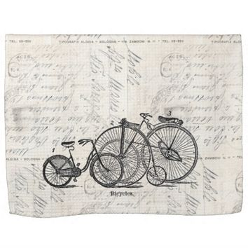 Vintage Bicycles Italian Postcard Towel