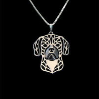 Puggle - sterling silver pendant and necklace
