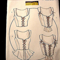 Butterick Historical Pattern Womens Sexy Lace up Corset Pattern Misses Sizes 14 16 18 20 UNCUT Victorian Goth Steampunk Civil War