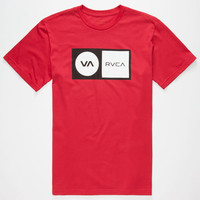 Rvca Correction Mens T-Shirt Red  In Sizes