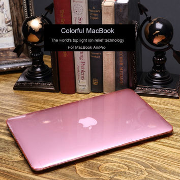 """Plastic Hard Case Slim Transparent Crystal/Frosted Matte Case for Macbook air 11"""" 13""""Macbook 12"""" 13"""" 15"""" for Pro 13""""15""""Touch bar"""