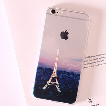 Nice Eiffel Tower Silicone iPhone 5s 6 6s Plus Case Cover Gift-113
