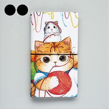 1 pcs PU Leather Cover Planner Notebook