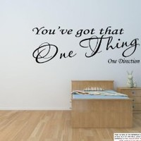 "ONE THING ~ ONE DIRECTION: Best Priced Decals WALL DECAL 8"" X 22"""