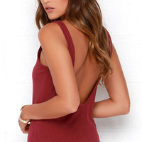 Rhythm Down by the Basic Burgundy Tank Top