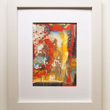 023 Original  Abstract  Art on Paper. Free-shipping within USA.