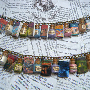 Deluxe Harry Potter Books and Potions Charm by KawaiiCandyCouture