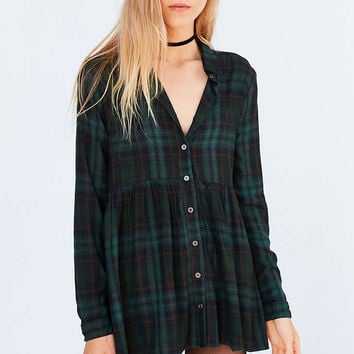 Kimchi Blue Dusk Button-Down Babydoll Tunic Top - Urban Outfitters