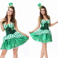 ONETOW Magician Green Cosplay Anime Cosplay Apparel Holloween Costume [9220291972]
